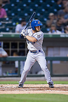 Ryan Brett (4) of the Durham Bulls at bat against the Charlotte Knights at BB&T BallPark on May 15, 2017 in Charlotte, North Carolina. The Knights defeated the Bulls 6-4.  (Brian Westerholt/Four Seam Images)