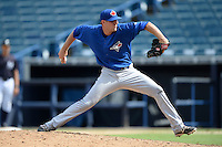 Toronto Blue Jays pitcher Justin Shafer (76) during an Instructional League game against the New York Yankees on September 24, 2014 at George M. Steinbrenner Field in Tampa, Florida.  (Mike Janes/Four Seam Images)