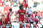 Sione Timani.RaboDirect Pro 12.Scarlets v Munster..Parc Y Scarlets.21.04.12.©Steve Pope