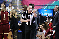 GREENSBORO, NC - MARCH 06: Official Bryan Brunette during a game between Boston College and Duke at Greensboro Coliseum on March 06, 2020 in Greensboro, North Carolina.