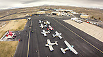 Open House at the WInnemucca Airport as photographed using the DJI Phantom quadcopter drone and GoPro Hero 3 camera from above the event. <br /> <br /> Aircraft on the ramp