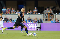 San Jose, CA - Saturday August 25, 2018: Magnus Eriksson during a Major League Soccer (MLS) match between the San Jose Earthquakes and Vancouver Whitecaps FC at Avaya Stadium.