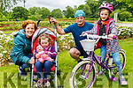 Eamon, Claire, Hannah and Hazel Dempsey from Abbeydorney enjoying the Tralee Town Park on Sunday.