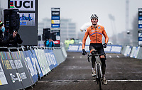 Mathieu Van der Poel (NED/Alpecin-Fenix) winning his 4th Elite World Champion Title<br /> <br /> UCI 2021 Cyclocross World Championships - Ostend, Belgium<br /> <br /> Elite Men's Race<br /> <br /> ©kramon