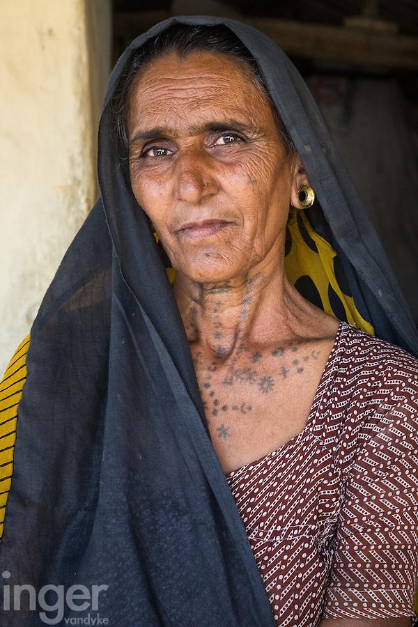 Lilu - A traditional Rabari woman from the Little Rann of Kutch, Gujarat, India