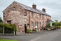 Cumbria, England, UK.  English Village House.
