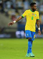 10th July 2021, Estádio do Maracanã, Rio de Janeiro, Brazil. Copa America tournament final, Argentina versus Brazil;  Fred of Brazil