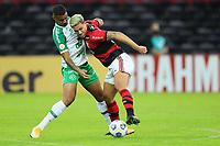11th July 2021; Estádio Maracanã, Rio de Janeiro, Brazil. Brazil A_League football, Flamengo versus Chapecoense; Pedro of Flamengo challenges Fernandinho of Chapecoense