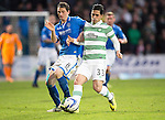 St Johnstone v Celtic...07.05.14    SPFL<br /> Beram Kayal and Gary McDonald<br /> Picture by Graeme Hart.<br /> Copyright Perthshire Picture Agency<br /> Tel: 01738 623350  Mobile: 07990 594431