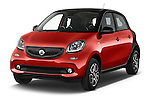 2015 Smart FORFOUR Prime 5 Door Micro Car Angular Front stock photos of front three quarter view