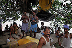 Migrant labourers at Burrabazaar. They work as goods carrier in the whole sale market.  Kolkata.West Bengal, India, 2009, Arindam Mukherjee