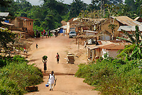 The village of Bayerobon 3, Western Ghana..