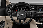 Car pictures of steering wheel view of a 2019 KIA Sedona EX 5 Door Minivan Steering Wheel