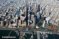 aerial photograph Embarcadero waterfront financial district overview San Francisco, California