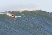 Carlos Burle. Mavericks Surf Contest in Half Moon Bay, California on February 13th, 2010.