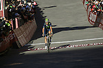 Alejandro Valverde (ESP) finishes in 3rd place in the 2015 Strade Bianche Eroica Pro cycle race after 200km over the white gravel roads from San Gimignano to Siena, Tuscany, Italy. 8th March 2015<br /> Photo: Otto de Waele/www.newsfile.ie