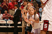 25 February 2006: Kids during Stanford's 78-47 win over the Washington State Cougars at Maples Pavilion in Stanford, CA.