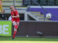 Lotte Jansen (4) of Standard  in action during a female soccer game between RSC Anderlecht Dames and Standard Femina de Liege on the sixth matchday of the 2021 - 2022 season of Belgian Womens Super League , Saturday 9 th of October 2021  in Brussels , Belgium . PHOTO SPORTPIX   SEVIL OKTEM
