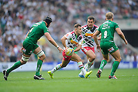 Danny Care of Harlequins looks to pass during the Premiership Rugby Round 1 match between London Irish and Harlequins at Twickenham Stadium on Saturday 6th September 2014 (Photo by Rob Munro)