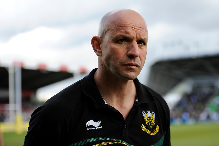 Jim Mallinder, Northampton Saints Director of Rugby, looks concerned after the Aviva Premiership match between Harlequins and Northampton Saints at the Twickenham Stoop on Saturday 4th May 2013 (Photo by Rob Munro)