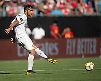CHARLOTTE, NC - JULY 20: Luca Ranieri #6 during a game between ACF Fiorentina and Arsenal at Bank of America Stadium on July 20, 2019 in Charlotte, North Carolina.