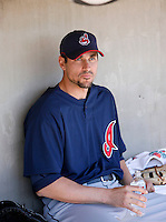 Carl Pavano  -  Cleveland Indians - 2009 spring training.Photo by:  Bill Mitchell/Four Seam Images