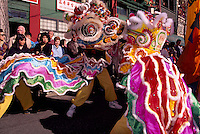 Chinese Dragons in the Chinese New Year's Parade in Chinatown, Vancouver, British Columbia, Canada