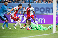 BRONX, New York - Wednesday, May 31, 2017: New York City FC takes on the New England Revolution at home at Yankee Stadium during the MLS regular season..