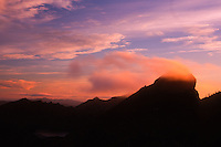 Sunset in the Mt. Margaret Backcountry, Mt. St. Helens National Volcanic Monument, Washington, US
