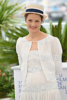 CANNES, FRANCE. July 12, 2021: Vicky Krieps at the photocall for Bergman Island at the 74th Festival de Cannes.<br /> Picture: Paul Smith / Featureflash