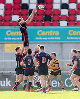Monday 27th February 2017 | ULSTER SCHOOLS CUP SEMI-FINAL<br /> <br /> Azur Allison during the Ulster Schools Cup Semi-Final between RBAI and Ballymena Academy  at Kingspan Stadium, Ravenhill Park, Belfast, Northern Ireland. <br /> <br /> Photograph by John Dickson | www.dicksondigital.com