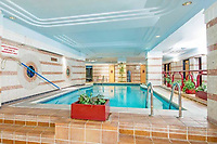 BNPS.co.uk (01202) 558833. <br /> Pic: OrlandoReid/BNPS<br /> <br /> Pictured: Pool. <br /> <br /> A flat in a ten-storey Art Deco mansion block that was the fictional home of TV detective Hercule Poirot has gone up for rent for £1,950 a month.<br /> <br /> Grade II listed Florin Court in East London was used for filming the long-running ITV series about Agatha Christie's iconic detective.<br /> <br /> The one-bedroom ground floor flat includes a double bedroom, an open plan reception room and kitchen, and a study or home office and<br /> a marble-tiled family bathroom.<br /> <br /> The exterior of the building has strong Art Deco motifs, many of which were used in the filming of Poirot, for 24 years, from 1989 to 2013.