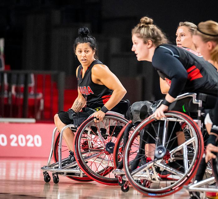Tara Llanes, Tokyo 2020 - Wheelchair Basketball // Basketball en fauteuil roulant.<br /> Canada takes on Germany in a women's preliminary game // Le Canada affronte le Japon dans un match préliminaire masculin. 28/08/2021.