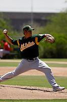 Ricardo Penalba -  Oakland Athletics - 2009 spring training.Photo by:  Bill Mitchell/Four Seam Images