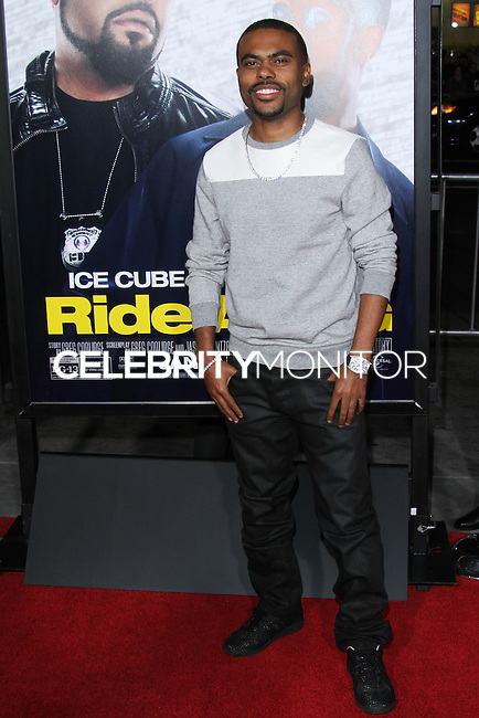 """HOLLYWOOD, CA - JANUARY 13: Lil Duval  at the Los Angeles Premiere Of Universal Pictures' """"Ride Along"""" held at the TCL Chinese Theatre on January 13, 2014 in Hollywood, California. (Photo by David Acosta/Celebrity Monitor)"""