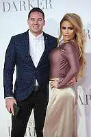 """Kieran Hayler and Katie Price<br /> at the """"Fifty Shades Darker"""" premiere, Odeon Leicester Square, London.<br /> <br /> <br /> ©Ash Knotek  D3223  09/02/2017"""