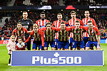 Players of Atletico de Madrid line up and pose for a photo during the La Liga 2017-18 match between Atletico de Madrid and Deportivo Alaves at Wanda Metropolitano Stadium on 16 December 2017 in Madrid, Spain. Photo by Diego Souto / Power Sport Images
