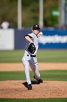 New York Yankees relief pitcher Phillip Diehl (82) delivers a pitch during a Grapefruit League Spring Training game against the Toronto Blue Jays on February 25, 2019 at George M. Steinbrenner Field in Tampa, Florida.  Yankees defeated the Blue Jays 3-0.  (Mike Janes/Four Seam Images)