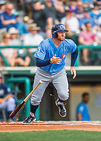 14 March 2016: Tampa Bay Rays infielder Brad Miller in action during a pre-season Spring Training game against the Atlanta Braves at Champion Stadium in the ESPN Wide World of Sports Complex in Kissimmee, Florida. The Ray fell to the Braves 5-0 in Grapefruit League play. Mandatory Credit: Ed Wolfstein Photo *** RAW (NEF) Image File Available ***