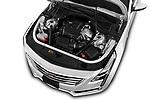 Car Stock 2019 Cadillac CT6 Luxury 4 Door Sedan Engine  high angle detail view