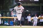 #25 Kitayama Miku of Japan runs after bating during the BFA Women's Baseball Asian Cup match between Japan and India at Sai Tso Wan Recreation Ground on September 6, 2017 in Hong Kong. Photo by Marcio Rodrigo Machado / Power Sport Images