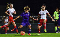Kassandra Missipo (12) of Anderlecht pictured in a duel with Amber De Priester (6) of Zulte-Waregem during a female soccer game between RSC Anderlecht Dames and SV Zulte Waregem on the 10 th matchday of the 2020 - 2021 season of Belgian Womens Super League , friday 18 th of December 2020  in Tubize , Belgium . PHOTO SPORTPIX.BE | SPP | DAVID CATRY