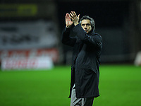 ATTENTION SPORTS PICTURE DESK<br /> Pictured: Paulo Sousa Manager of Swansea City <br /> Re: Coca Cola Championship, Swansea City Football Club v Leicester City at the Liberty Stadium, Swansea, south Wales. Saturday 16 January 2010