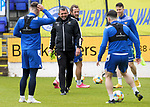 St Johnstone Training...21.05.21<br />Manager Callum Davidson pictured during training at McDiarmid Park this morning with Glenn Middleton, Stevie May, Guy Melamed and Craig Conway ahead of tomorrow's Scottish Cup Final against Hibs.<br />Picture by Graeme Hart.<br />Copyright Perthshire Picture Agency<br />Tel: 01738 623350  Mobile: 07990 594431