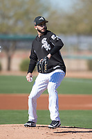 Chicago White Sox pitcher Miguel Gonzalez (58) during Spring Training Camp on February 25, 2018 at Camelback Ranch in Glendale, Arizona. (Zachary Lucy/Four Seam Images)