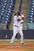 Tampa Tarpons Chad Bell (19) bats during a game against the Fort Myers Mighty Mussels on May 19, 2021 at George M. Steinbrenner Field in Tampa, Florida. (Mike Janes/Four Seam Images)