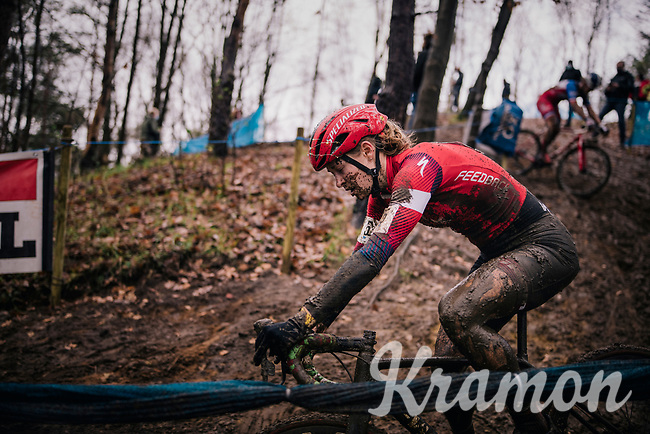 A Christmas lit Maghalie Rochette (CAN/Specialized-Feedback)<br /> <br /> Women's race at the X2O Herentals Cross 2020 (BEL)<br /> <br /> ©kramon