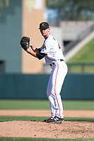 Salt River Rafters relief pitcher Kyle Keller (40), of the Miami Marlins organization, gets ready to deliver a pitch during an Arizona Fall League game against the Surprise Saguaros at Salt River Fields at Talking Stick on November 5, 2018 in Scottsdale, Arizona. Salt River defeated Surprise 4-3 . (Zachary Lucy/Four Seam Images)