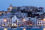 Blick auf Ibiza-Altstadt, Eivissa, Ibiza