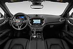 Stock photo of straight dashboard view of a 2020 Maserati Ghibil Base 4 Door Sedan